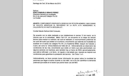 Continúan los estudios de Metrocali para habilitar ruta del MIO en el sector de Pio XII, Incolballet y aledaños