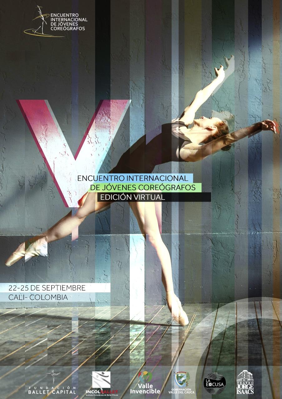 Pieza publicitaria Encuentro internacional de jóvenes coreógrafos